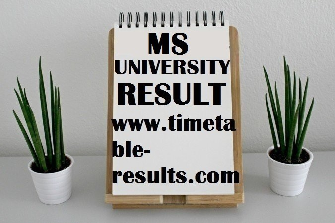 MS University MA Result Archives - All India Exams Timetable